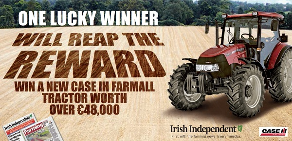 WIN A CASE IH FARMALL TRACTOR WORTH OVER €48,000